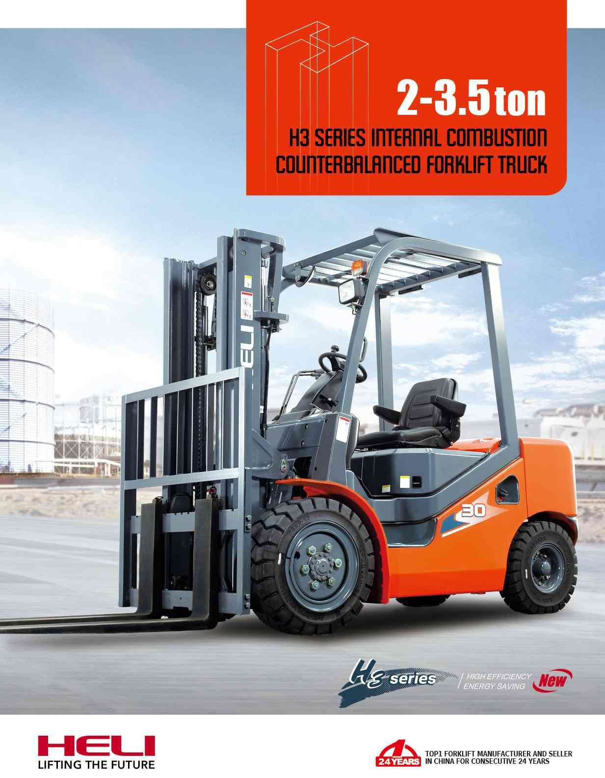 Xe nâng Heli 2-3,5 tấn H3 Series