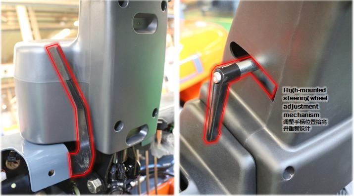 Cần điều khiển vô lăng trên xe nâng Heli